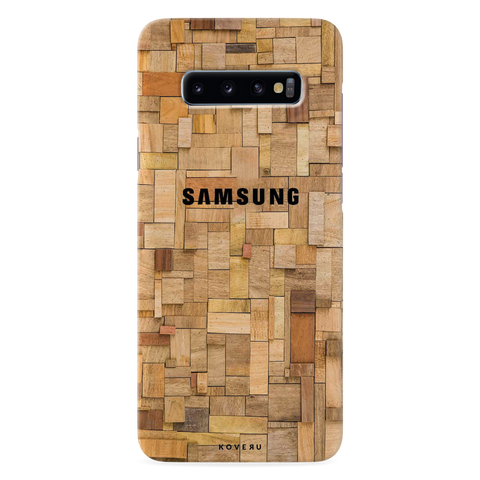 Square Wooden Cover Case for Samsung Galaxy S10 Plus