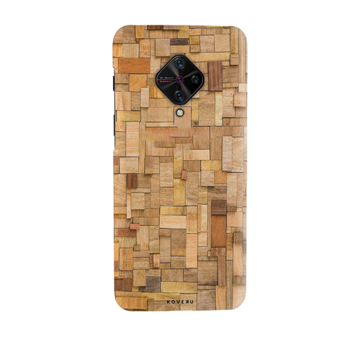 Square Wooden Cover Case for Vivo S1 Pro