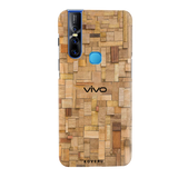 Square Wooden Cover Case for Vivo V15