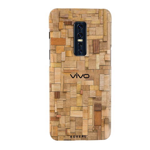 Square Wooden Cover Case for Vivo V17 Pro