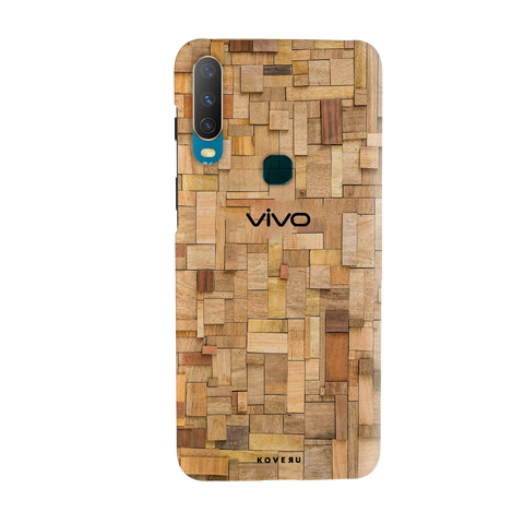Square Wooden Cover Case for Vivo Y17