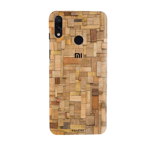 Square Wooden Cover Case for Redmi Note 7 Pro