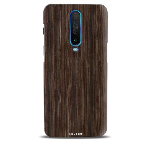 Wooden Texture Cover Case for Poco X2