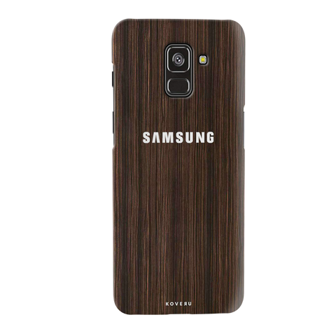 Wooden Texture Cover Case for Galaxy A8 Plus