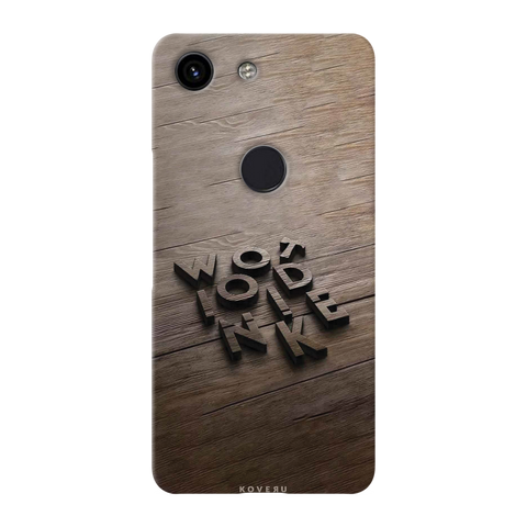 Wooden WOT Cover Case for Google Pixel 3A