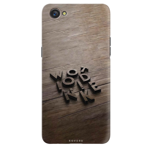 Wooden WOT Cover Case for Oppo A3