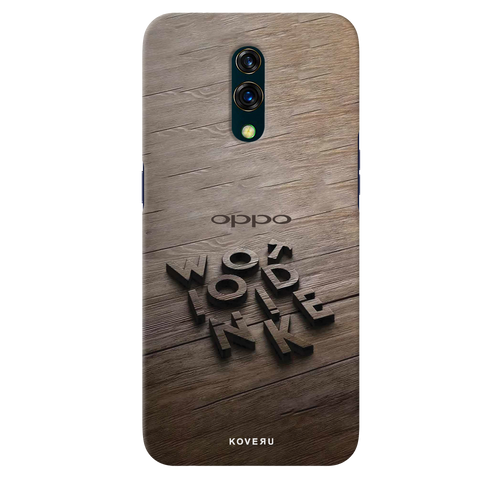 Wooden WOT Cover Case for Oppo K3