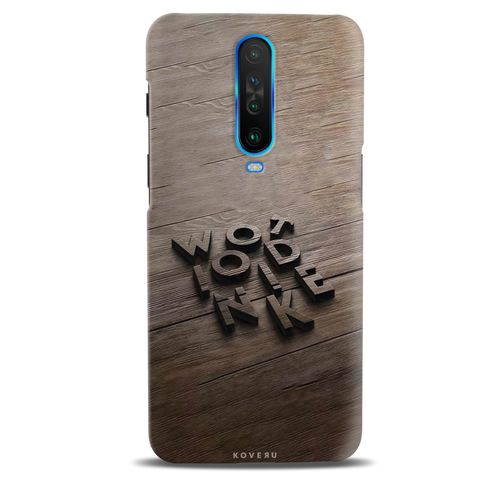 Wooden WOT Cover Case for Poco X2