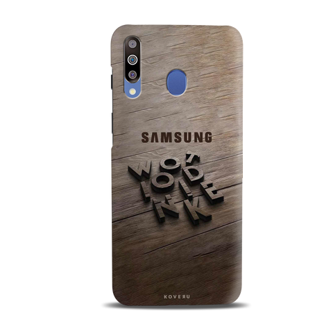 Wooden WOT Cover Case for Samsung Galaxy M30