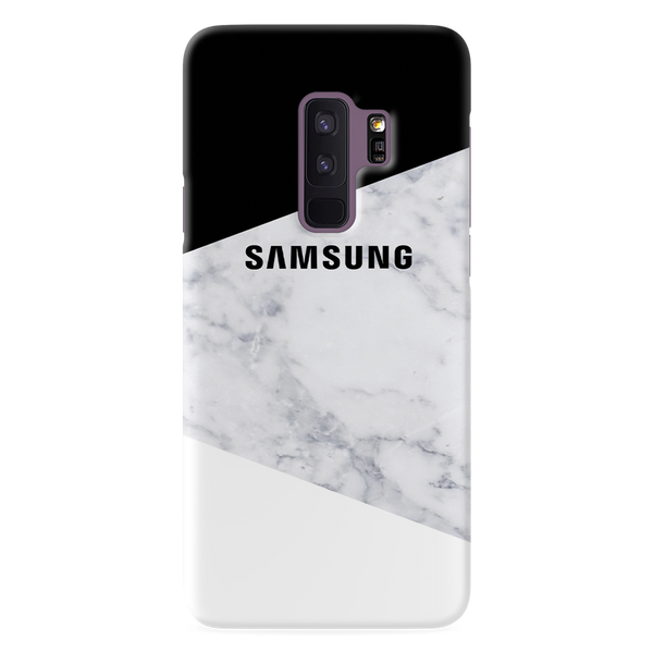 Geometric White Marble Cover Case For Samsung Galaxy S9 Plus