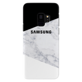 Geometric White Marble Cover Case For Samsung Galaxy S9