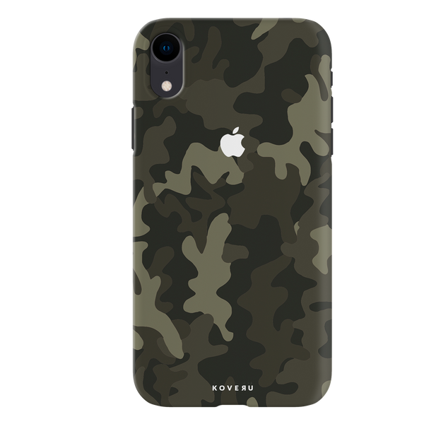 Brown Abstract Camouflage Cover Case For iPhone XR