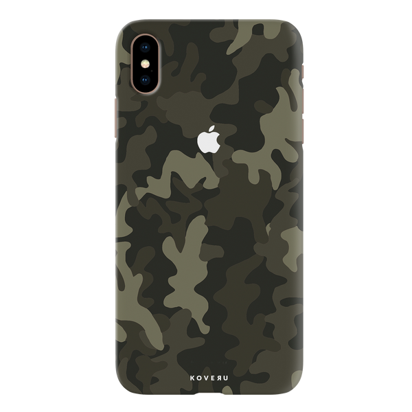 Brown Abstract Camouflage Cover Case For iPhone XS Max