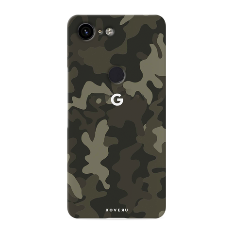 Brown Abstract Camouflage Cover Case for Google Pixel 3 XL