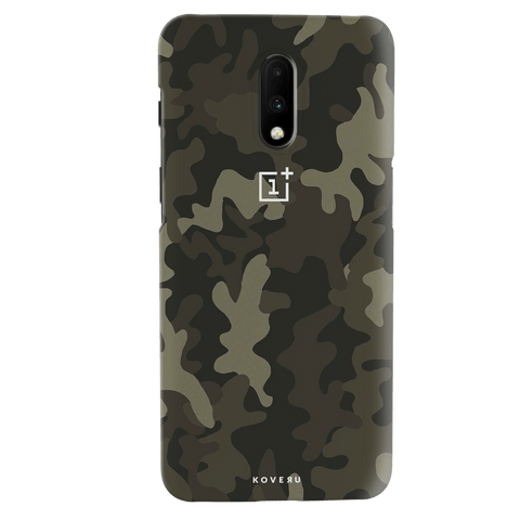 Brown Abstract Camouflage Cover Case for OnePlus 7