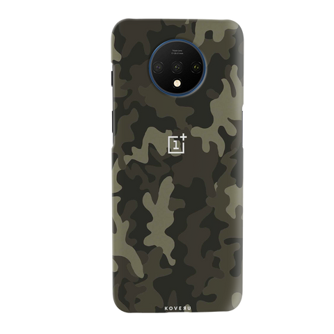 Brown Abstract Camouflage Cover Case for OnePlus 7T