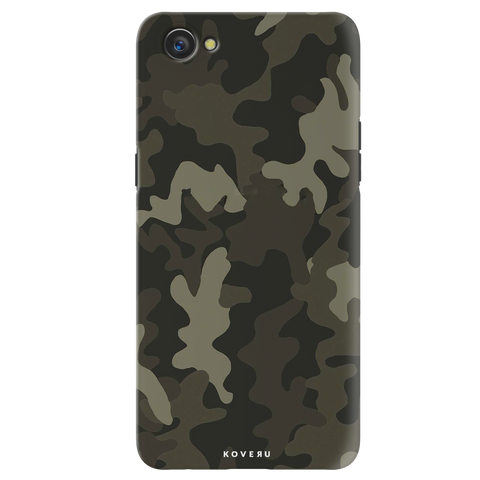 Brown Abstract Camo Cover Case for Oppo A3