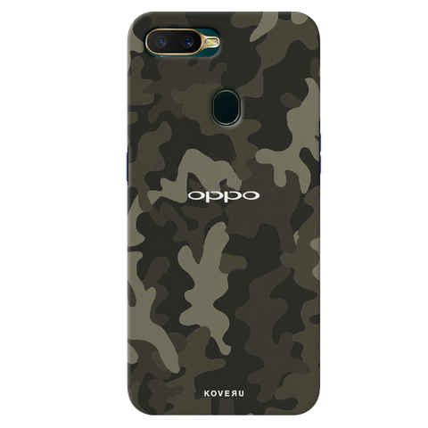 Brown Abstract Camouflage Cover Case for Oppo A7