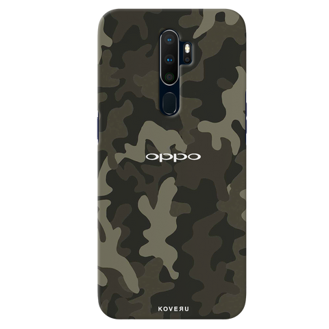 Brown Abstract Camouflage Cover Case for Oppo A9 2020