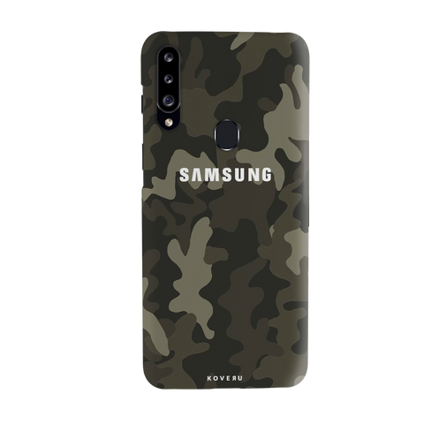 Brown Abstract Camouflage Cover Case for Samsung Galaxy A20S