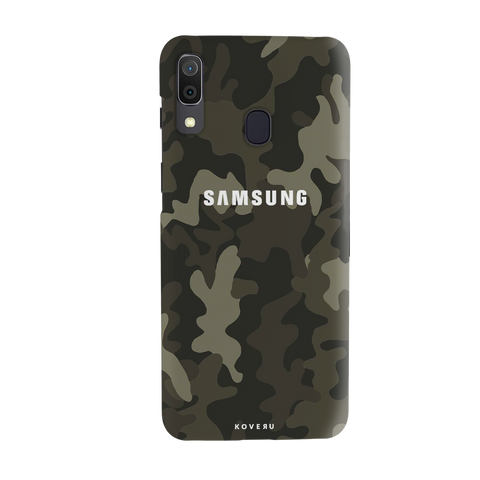 Brown Abstract Camouflage Cover Case for Samsung Galaxy A20