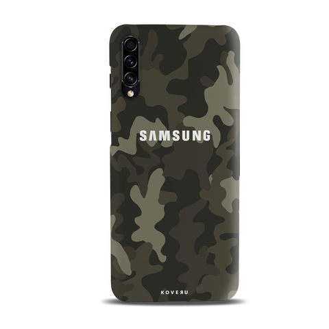 Brown Abstract Camouflage Cover Case for Samsung Galaxy A30S