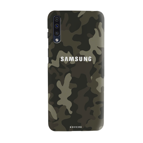 Brown Abstract Camouflage Cover Case for Samsung Galaxy A50
