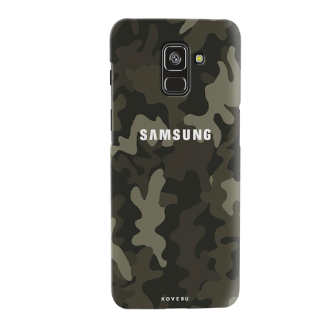 Brown Abstract Camouflage Cover Case for Galaxy A8 Plus