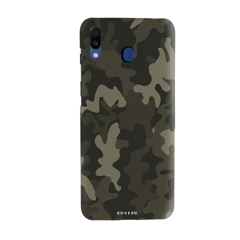 Brown Abstract Camo Cover Case for Samsung Galaxy M20