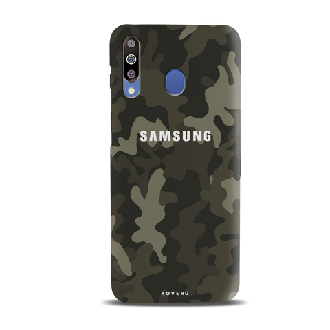 Brown Abstract Camouflage Cover Case for Samsung Galaxy M30