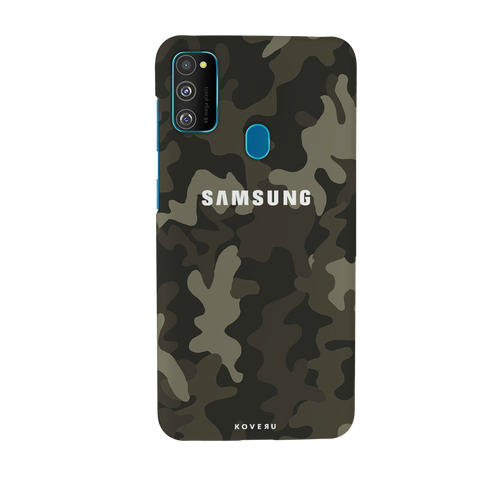 Brown Abstract Camouflage Cover Case for Samsung Galaxy M30S