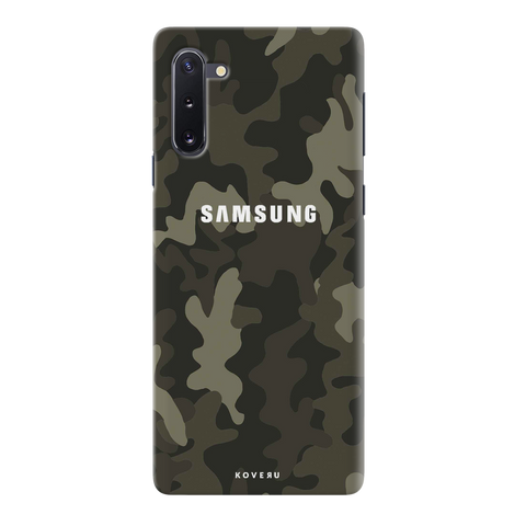 Brown Abstract Camouflage Cover Case for Samsung Galaxy Note 10