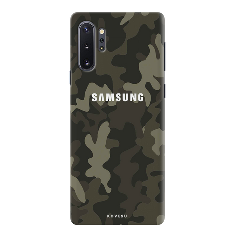 Brown Abstract Camouflage Cover Case for Samsung Galaxy Note 10 Plus