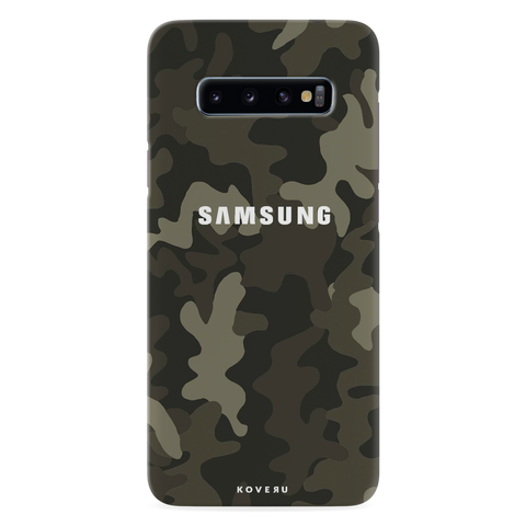 Brown Abstract Camouflage Cover Case for Samsung Galaxy S10