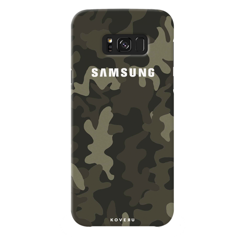 Brown Abstract Camouflage Cover Case For Samsung Galaxy S8