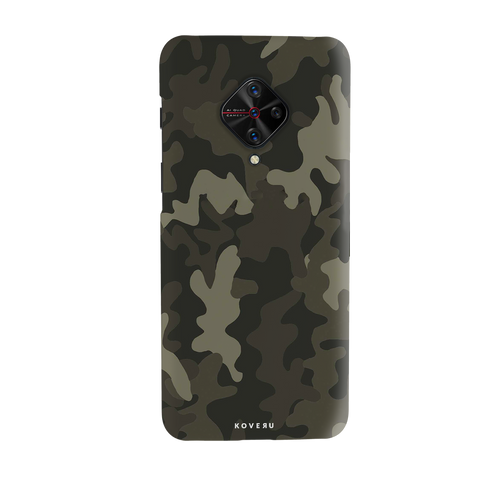 Brown Abstract Camo Cover Case for Vivo S1 Pro