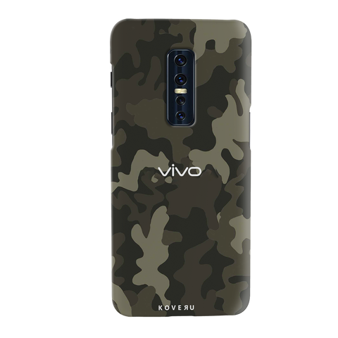 Brown Abstract Camouflage Cover Case for Vivo V17 Pro
