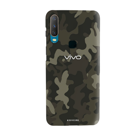 Brown Abstract Camouflage Cover Case for Vivo Y17