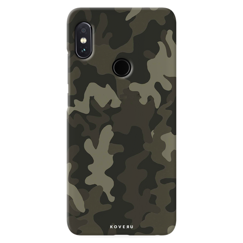 Brown Abstract Camo Cover Case for Redmi Note 5 Pro