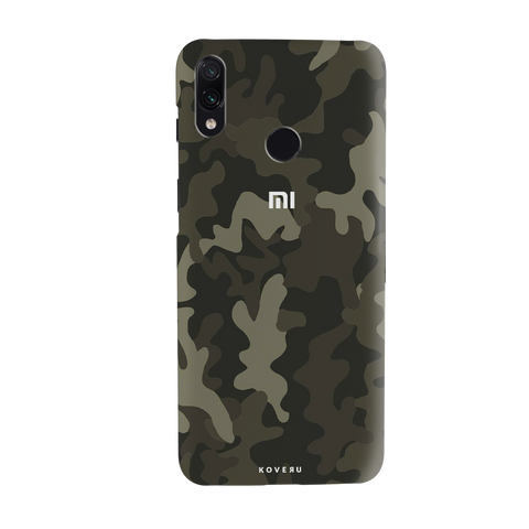 Brown Abstract Camouflage Cover Case for Redmi Note 7 Pro