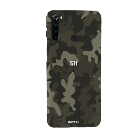 Brown Abstract Camouflage Cover Case for Redmi Note 8