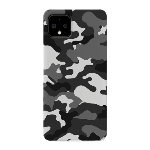 Black Abstract Camouflage Cover Case for Google Pixel 4 XL