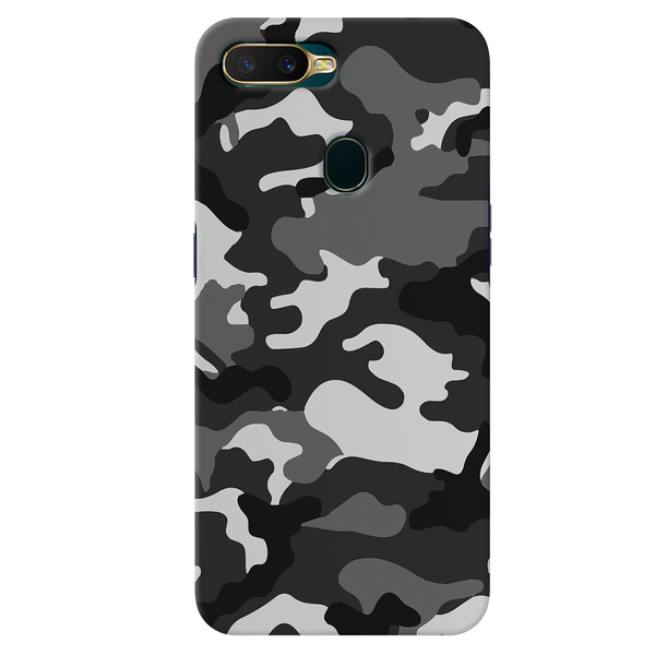 Black Abstract Camouflage Cover Case for Oppo A7