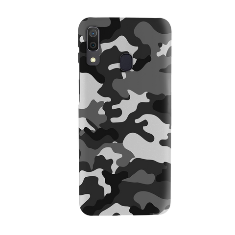 Black Abstract Camouflage Cover Case for Samsung Galaxy A20