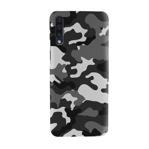 Black Abstract Camouflage Cover Case for Samsung Galaxy A50