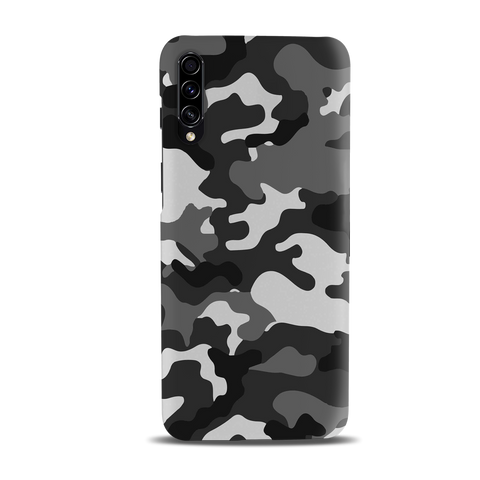 Black Abstract Camouflage Cover Case for Samsung Galaxy A50S