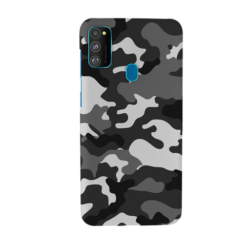 Black Abstract Camouflage Cover Case for Samsung Galaxy M30S