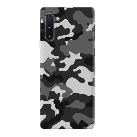 Black Abstract Camouflage Cover Case for Samsung Galaxy Note 10