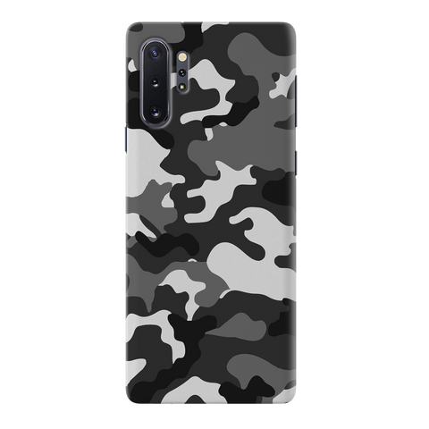 Black Abstract Camouflage Cover Case for Samsung Galaxy Note 10 Plus
