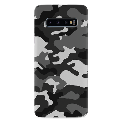 Black Abstract Camouflage Cover Case for Samsung Galaxy S10